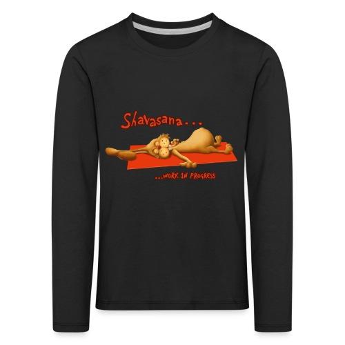 Time for Shavasana - Kinder Premium Langarmshirt