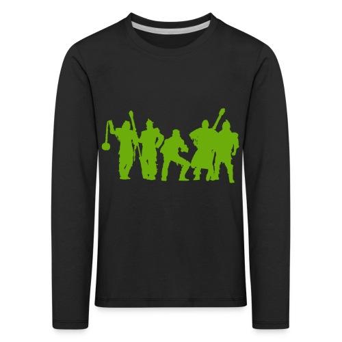 Jugger Schattenspieler gruen - Kinder Premium Langarmshirt