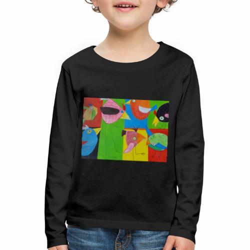 Lovebirds - Liebesvögel - Kinder Premium Langarmshirt