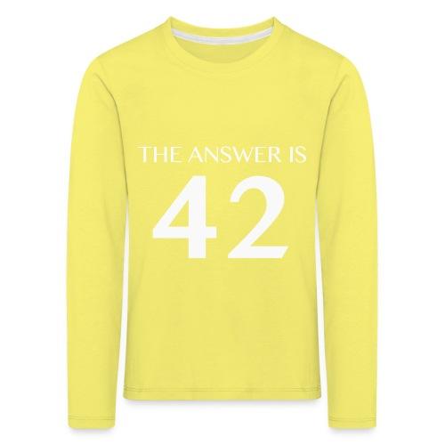 The Answer is 42 White - Kids' Premium Longsleeve Shirt