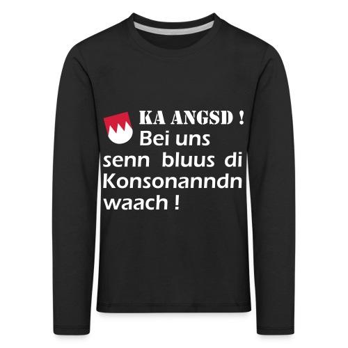 ka-angsd_rot_weiss_klein - Kinder Premium Langarmshirt