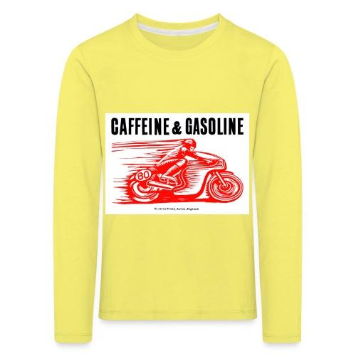 Caffeine & Gasoline black text - Kids' Premium Longsleeve Shirt