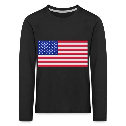 USA / United States - Kinderen Premium shirt met lange mouwen