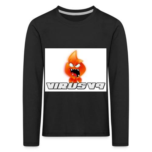 Virusv9 Weiss - Kinder Premium Langarmshirt