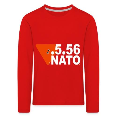 .5.56 NATO BLANC - T-shirt manches longues Premium Enfant