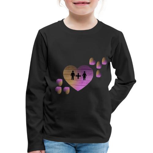 couple amoureux - T-shirt manches longues Premium Enfant