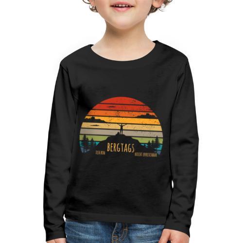 lustige Wanderer Sprüche Shirt Geschenk Retro - Kinder Premium Langarmshirt