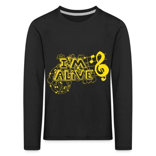 i m alive geel png - Kinderen Premium shirt met lange mouwen