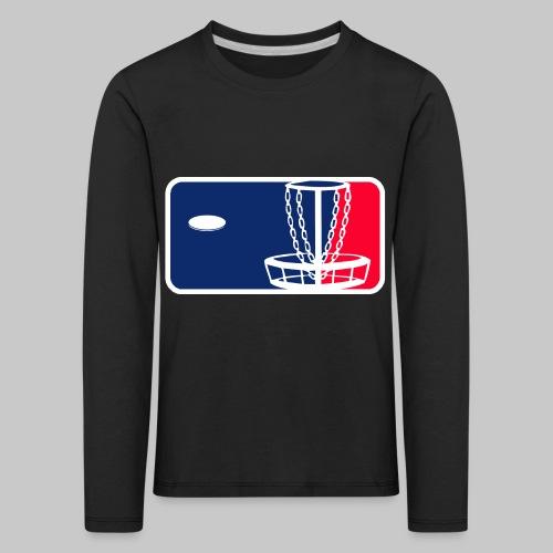 Major League Frisbeegolf - Lasten premium pitkähihainen t-paita