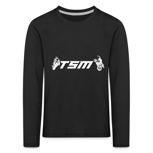 TSM OFFICIAL LOGO WHITE png - Långärmad premium-T-shirt barn