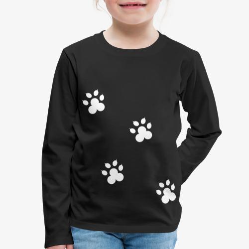 cat - Koszulka dziecięca Premium z długim rękawem