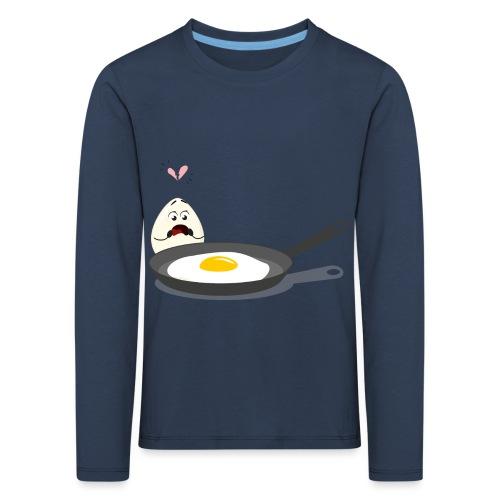 Broken Love, Eier, Liebespaar - Kinder Premium Langarmshirt