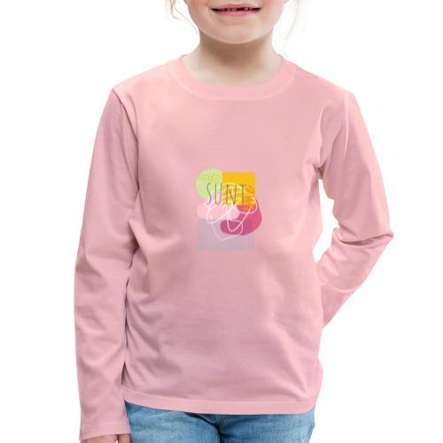 Suntime - Børne premium T-shirt med lange ærmer
