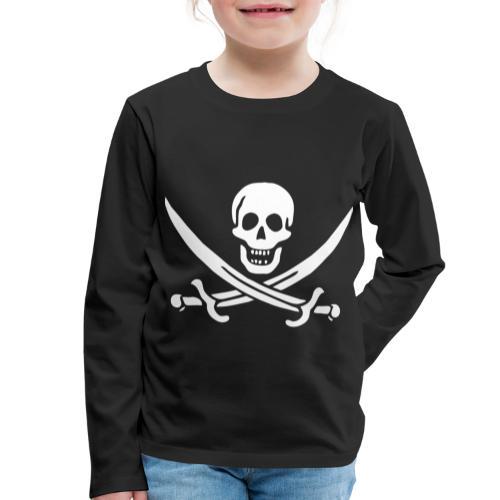 Jack Rackham Flag - T-shirt manches longues Premium Enfant