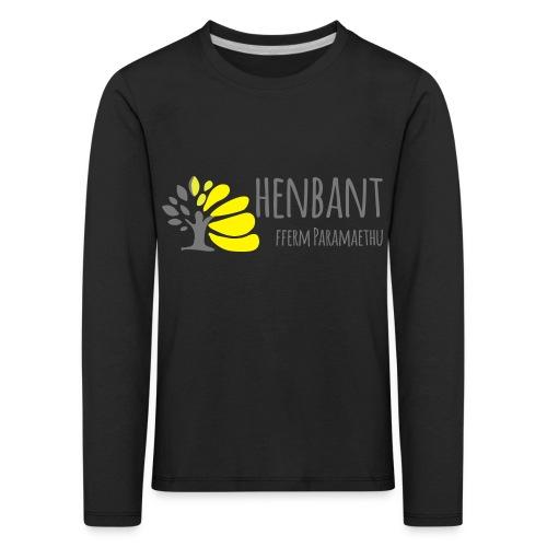 henbant logo - Kids' Premium Longsleeve Shirt