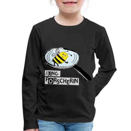 Jungforscherin mit Biene - Kinder Premium Langarmshirt