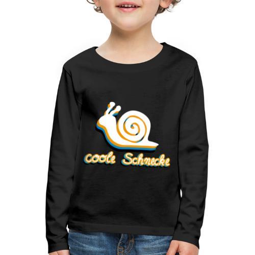 Coole Schnecke - Kinder Premium Langarmshirt