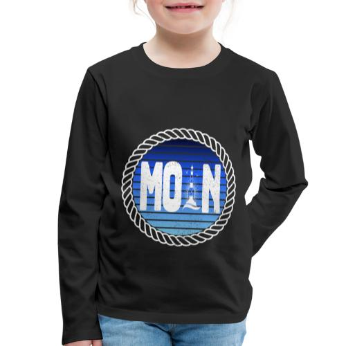 Moin Leuchtturm maritimer Retrokreis Geschenkidee - Kinder Premium Langarmshirt