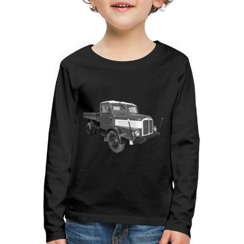 Lkw IFA S 4000 Kipper Werdau DDR Oldtimer - Kinder Premium Langarmshirt