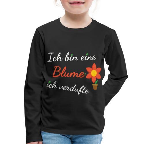 Blume Garten Gärtner Florist Shirt Geschenk - Kinder Premium Langarmshirt