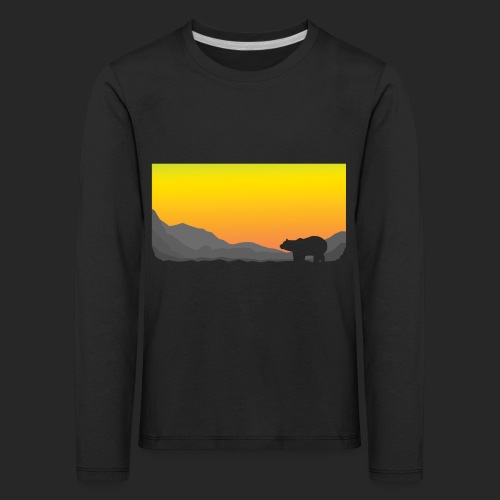 Sunrise Polar Bear - Kids' Premium Longsleeve Shirt