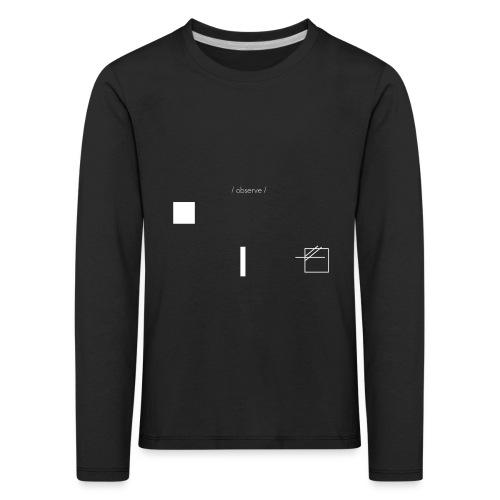 /obeserve/ sweater (M) - Premium langermet T-skjorte for barn