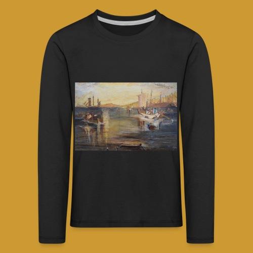 White Fishing - Mark Noble Art - Kids' Premium Longsleeve Shirt