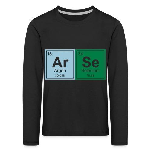 Geeky Arse Periodic Elements - Kids' Premium Longsleeve Shirt