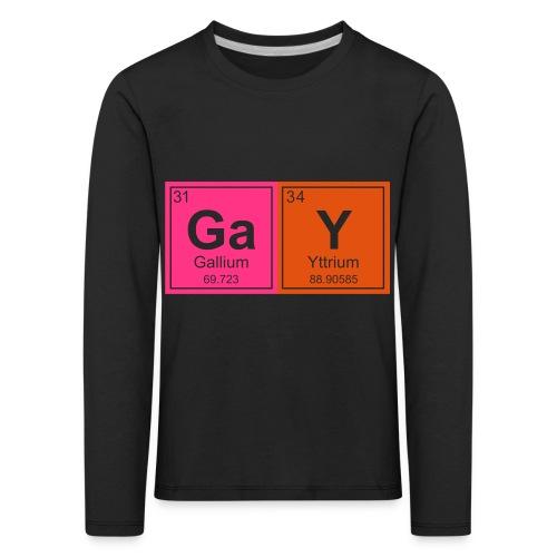 Geeky Gay Periodic Elements - Kids' Premium Longsleeve Shirt