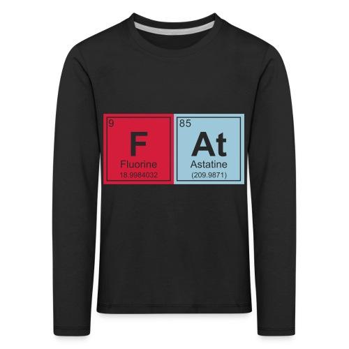 Geeky Fat Periodic Elements - Kids' Premium Longsleeve Shirt