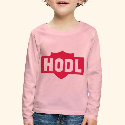 HODL TO THE MOON - Lasten premium pitkähihainen t-paita
