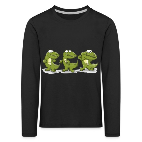 Nice krokodile - Kinder Premium Langarmshirt
