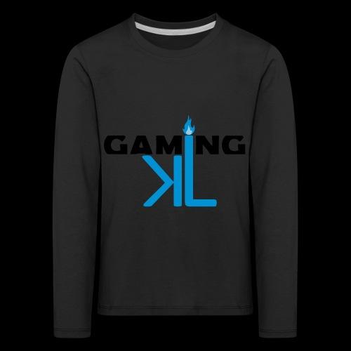 Kassu_L LOGO - Lasten premium pitkähihainen t-paita