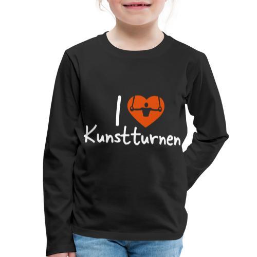 I love Kunstturnen Geschenk Geräteturner - Kinder Premium Langarmshirt