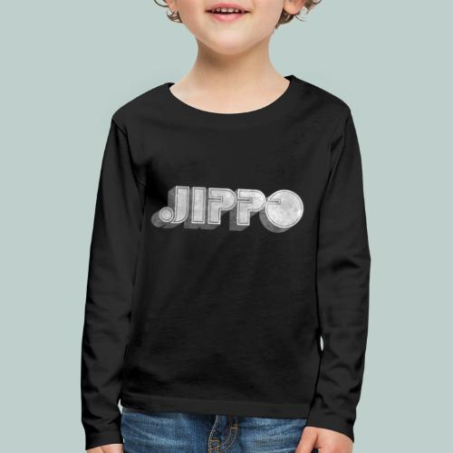 Retro JIPPO logo - Lasten premium pitkähihainen t-paita