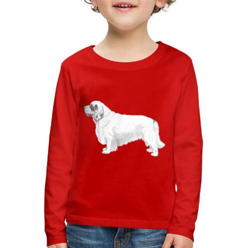 clumber spaniel - Børne premium T-shirt med lange ærmer