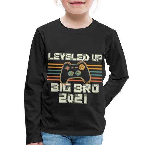 Leveled up to Big Brother 2021 - Kinder Premium Langarmshirt