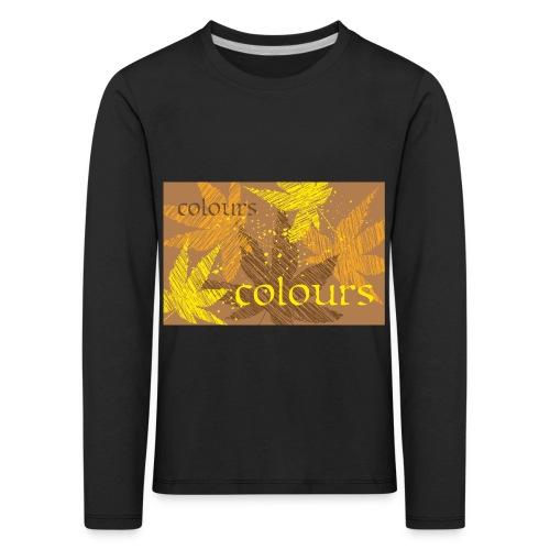 autumn theme - Koszulka dziecięca Premium z długim rękawem