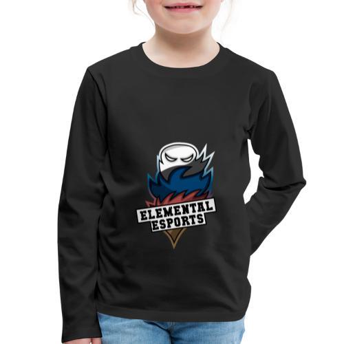 Elemental eSports | 2018 Logo - Børne premium T-shirt med lange ærmer