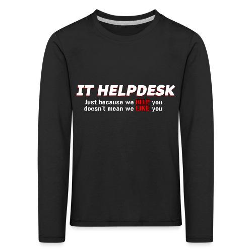 I.T. HelpDesk - Kids' Premium Longsleeve Shirt