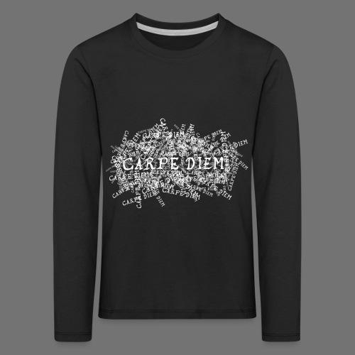 carpe diem (valkoinen) - Lasten premium pitkähihainen t-paita