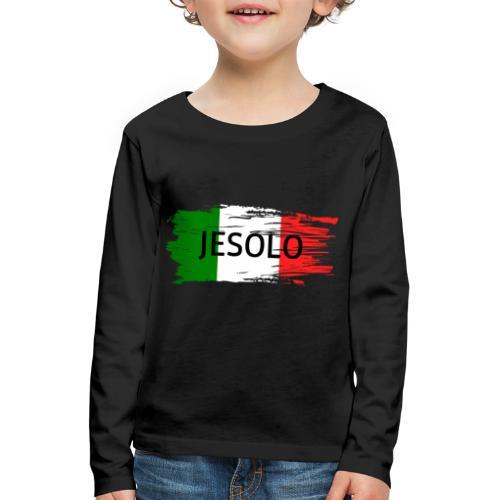 Jesolo auf Flagge - Kinder Premium Langarmshirt