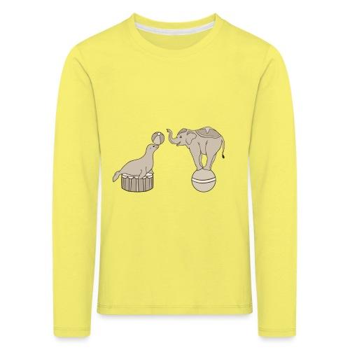 Circus elephant and seal - Kids' Premium Longsleeve Shirt