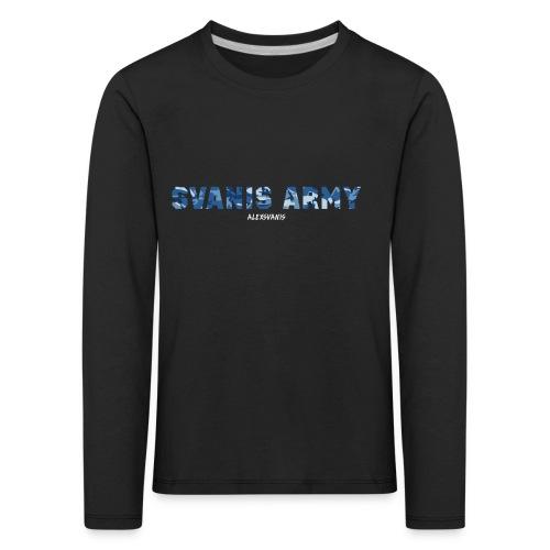 SVANIS ARMY (ALEXSVANIS VIT) - Långärmad premium-T-shirt barn