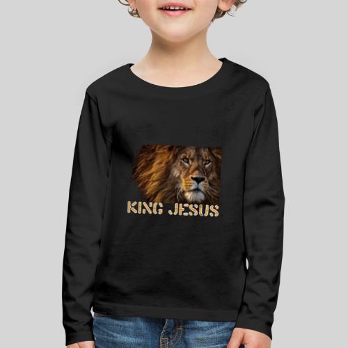König Jesus der Löwe von Juda - Kinder Premium Langarmshirt