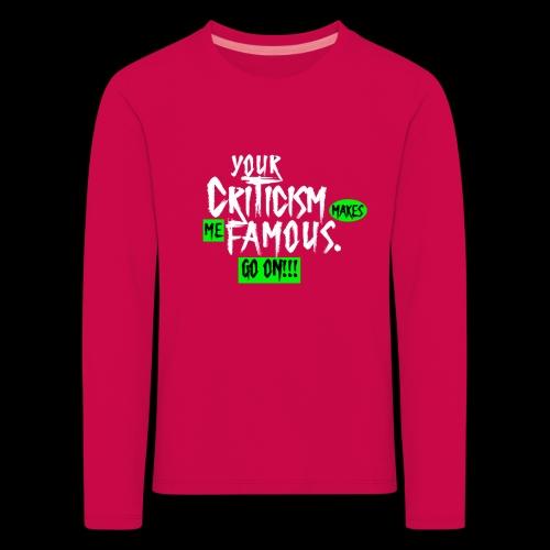 CRITICA 2 - Camiseta de manga larga premium niño