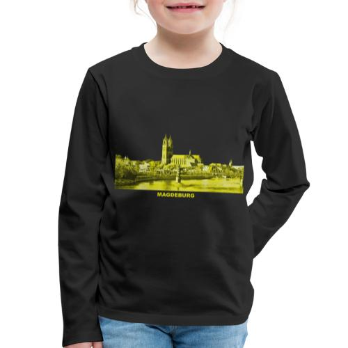 Magdeburg Dom Sachsen-Anhalt Deutschland Elbe - Kinder Premium Langarmshirt