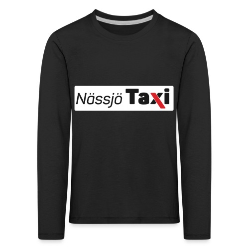 Nässjö taxi tryck - Långärmad premium-T-shirt barn