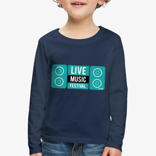 Amo la música - Camiseta de manga larga premium niño
