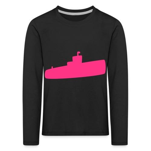 Rosa U-Boot - Kinder Premium Langarmshirt